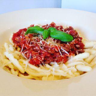 Pancetta pastasaus