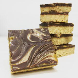 Chocolade-pindakaas-karamelkoeken